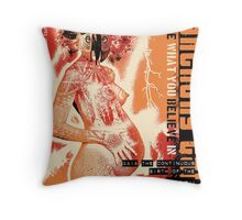 continuous birth Throw Pillow