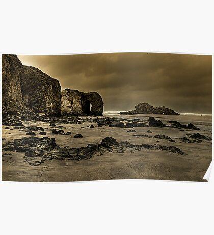 Perranporth Rocks..!  Poster