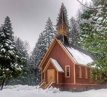 Yosemite Chapel by Bob Melgar