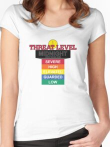 Threat Level Midnight Women's Fitted Scoop T-Shirt