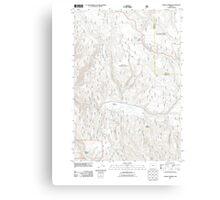 USGS Topo Map Oregon Lehman Springs 20110822 TM Canvas Print