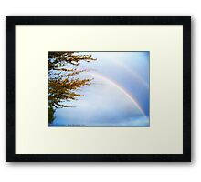Double Rainbow 2 Framed Print