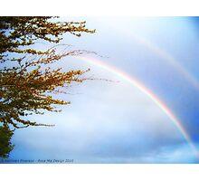 Double Rainbow 2 Photographic Print