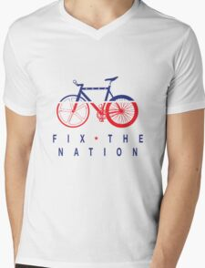 Fix The Nation Fixed Gear Mens V-Neck T-Shirt
