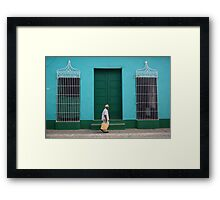 Trinidad Streetscape, CUBA Framed Print