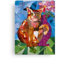 Happy Cat with Vase Canvas Print