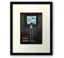 Sending my love Framed Print