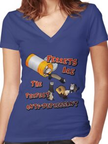 My Anti-Drug Women's Fitted V-Neck T-Shirt