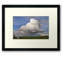 huge thunderstorm Framed Print
