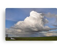 huge thunderstorm Canvas Print