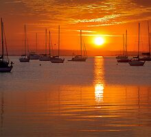 Corio bay sunrise - Geelong by Hans Kawitzki