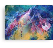 Watercolour: Rainbow of Fuchsias Canvas Print