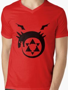 Full Metal Alchemist Brotherhood FMA Alchemy 101 Edward Elric Anime Cosplay T Shirt Mens V-Neck T-Shirt