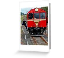 Playing Trains Greeting Card