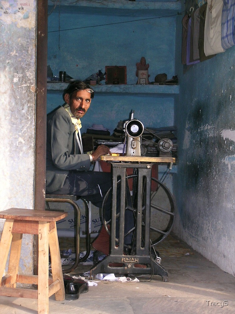 Indian Tailor, Rajasthan by TracyS