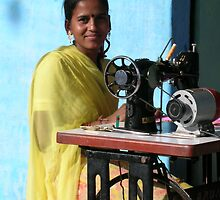 Indian Seamstress, Rajasthan by TracyS