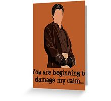 Don't Mess with the Captain Greeting Card