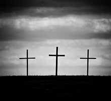 Three Wooden Crosses by MeanChristine