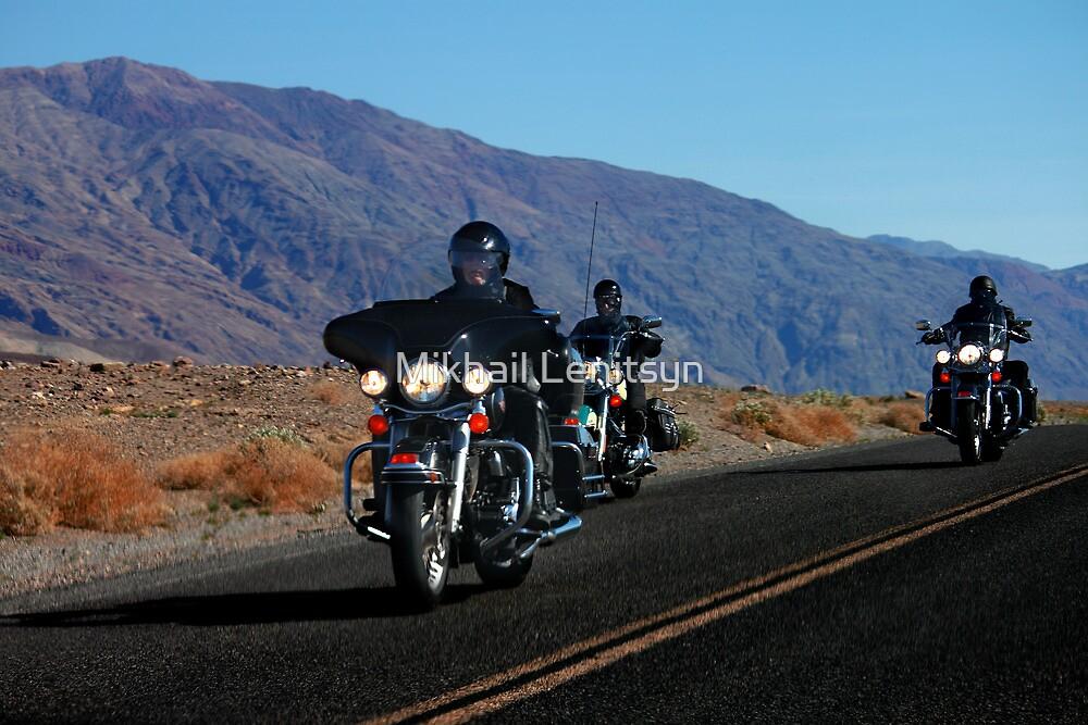 Dark Riders - Death Valley Bikers by Mikhail Lenitsyn