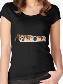 neon genesis evangelion asuka soryu anime manga shirt Women's Fitted Scoop T-Shirt