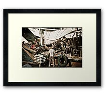 Prepping for the next haul Framed Print