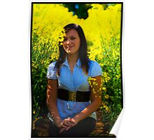 Teen in field of gold Poster