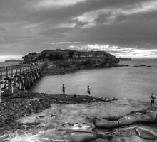 Fishermen at Botany Bay by Bear Island by Dean Woodyatt