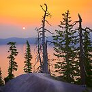 Misty Crater Lake by Inge Johnsson