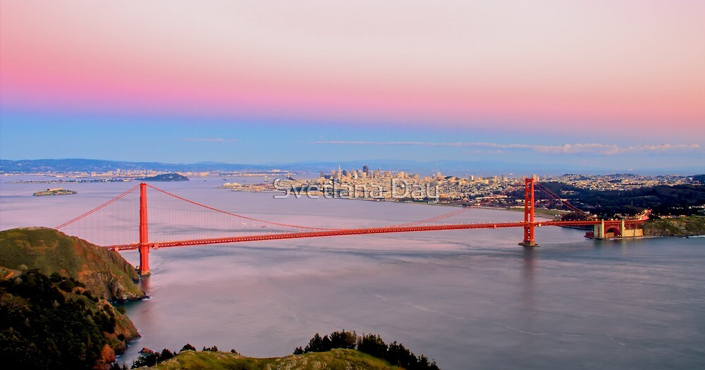 Golden Gate Bridge From Marin Headlands by Svetlana Day