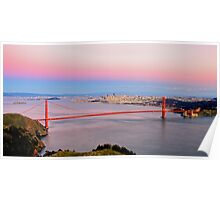 Golden Gate Bridge From Marin Headlands Poster