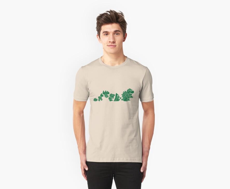 Reptilian Evolution in The Mushroom Kingdom (Green) by rtofirefly