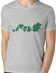 Reptilian Evolution in The Mushroom Kingdom (Green) Mens V-Neck T-Shirt