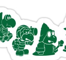 Reptilian Evolution in The Mushroom Kingdom (Green) Sticker