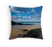 Treyarnon Bay Cornwall UK Throw Pillow