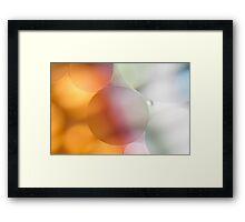 Pastel Bubbles Framed Print