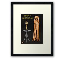 The Scream World Tour Oscars Happy Birthday  Framed Print