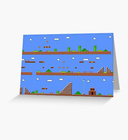 Super Mario Bros World 1-1 Greeting Card