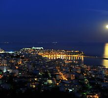 Full moon night by FOTIS MAVROUDAKIS