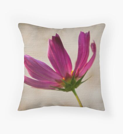 Textured Cosmea Throw Pillow