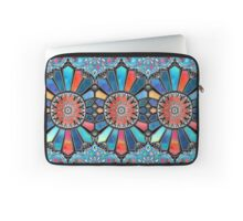 Iridescent Watercolor Brights on Black  Laptop Sleeve