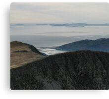 View from Cadir Idris North Wales Canvas Print