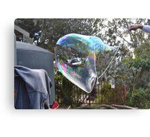 making bubbles Canvas Print