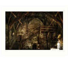 Stokesay Castle Great Hall Art Print