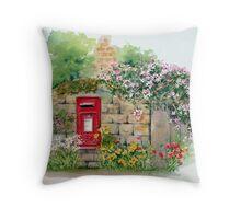 Village Postbox Throw Pillow