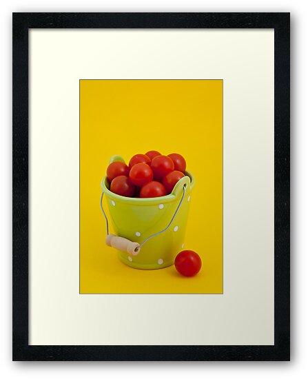 Bucket of cherry tomatoes by Lenka