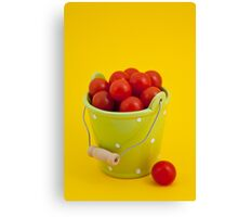 Bucket of cherry tomatoes Canvas Print