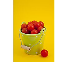 Bucket of cherry tomatoes Photographic Print