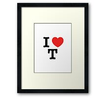 I Love T Framed Print