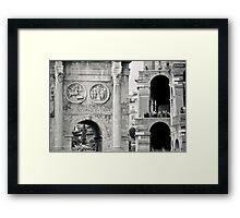 Il Mito di Roma - Arco di Costantino e Colosseo (2 / 15) Framed Print