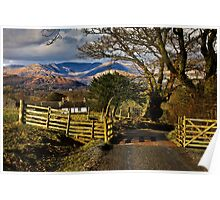 High Wray views over the Cumbrian fells Poster